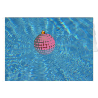Palm Springs Xmas Ornament in Swimming Pool Greeting Card