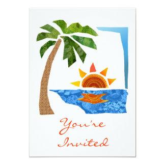 Palm, Sun & Sea Card