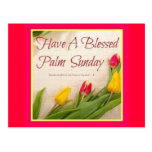 Palm sunday,flowers postcard