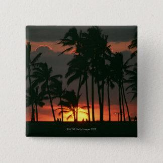 Palm Tree 15 Cm Square Badge