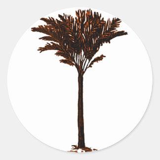 Palm Tree 2 Orange The MUSEUM Zazzle Gifts Round Stickers