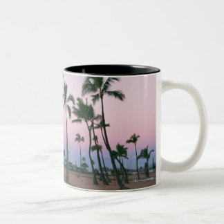 Palm Tree 2 Two-Tone Coffee Mug