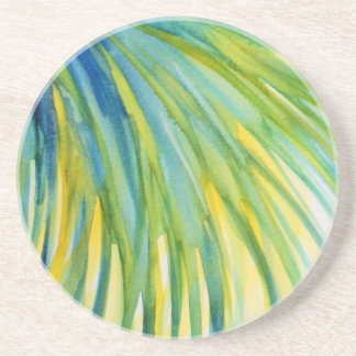 Palm Tree Abstract Watercolor Coaster