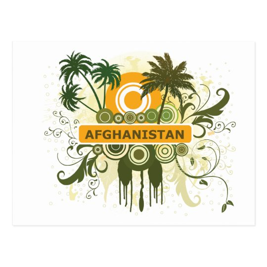 Palm Tree Afghanistan Postcard