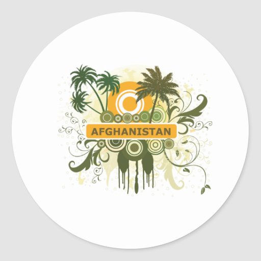 Palm Tree Afghanistan Sticker