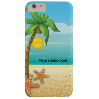Palm tree and starfish tropical scenery barely there iPhone 6 plus case