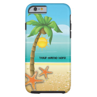 Palm tree and starfish tropical scenery case tough iPhone 6 case