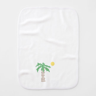 Palm Tree and Sun Cartoon Burp Cloth