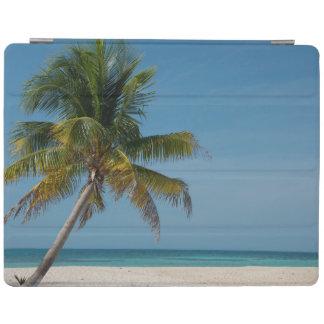 Palm tree and white sand beach  2 iPad cover