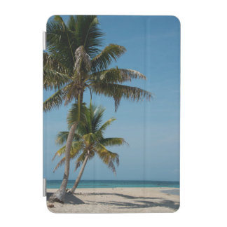 Palm tree and white sand beach iPad mini cover