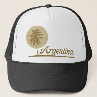 Palm Tree Argentina Trucker Hat