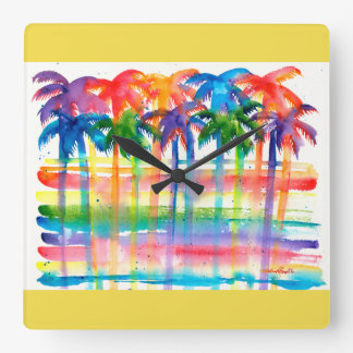 Palm Tree Art Clock