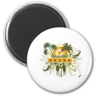 Palm Tree Aruba Magnet
