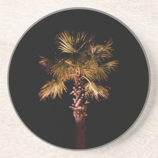 Palm tree at night coaster
