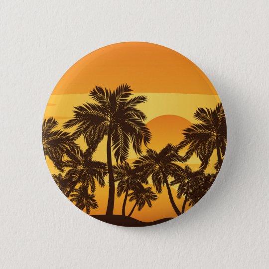 Palm Tree at Sunset 6 Cm Round Badge