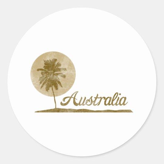 Palm Tree Australia Classic Round Sticker