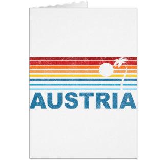 Palm Tree Austria Greeting Card