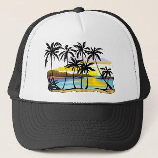 Palm Tree Background Trucker Hat