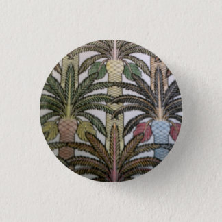 Palm tree badge. 3 cm round badge
