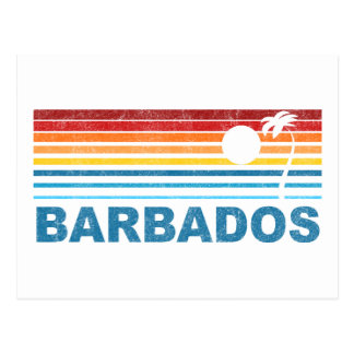 Palm Tree Barbados Postcard
