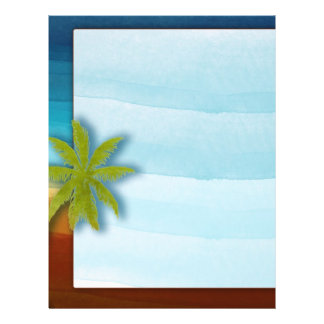 Palm Tree / Beach theme wedding / event 21.5 Cm X 28 Cm Flyer