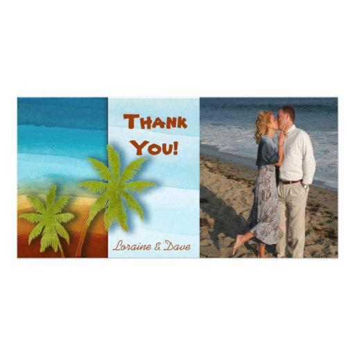 Palm Tree / Beach theme wedding / event Photo Card
