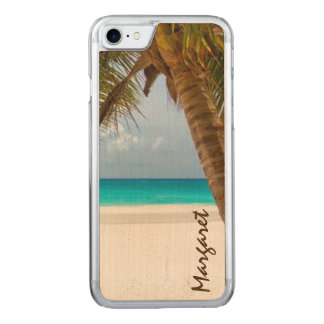 Palm Tree Beach Tropical Carved iPhone 7 Case