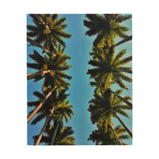 Palm tree beach tropical summer photo wood wall decor