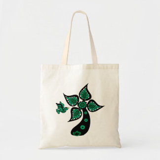 Palm Tree Bird Tote Bag