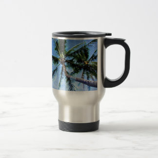 Palm Tree & Blue Sky Stainless Steel Travel Mug