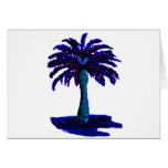 Palm Tree Blue The MUSEUM Zazzle Gifts Card