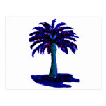 Palm Tree Blue The MUSEUM Zazzle Gifts Postcard