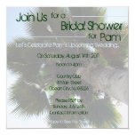 Palm Tree Bridal Shower Invite 13 Cm X 13 Cm Square Invitation Card