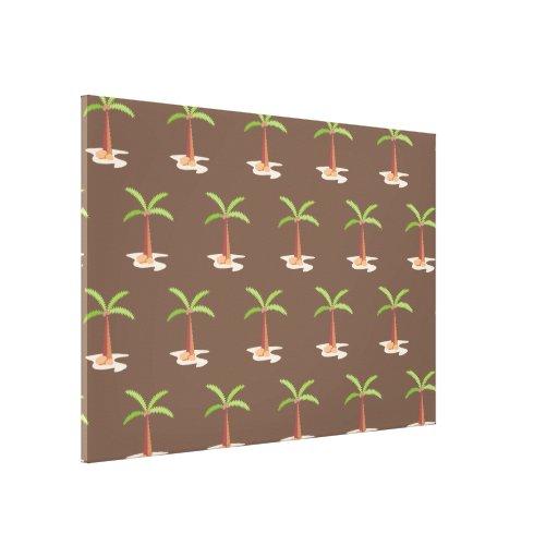 palm tree brown canvas prints