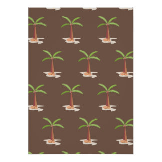 palm tree brown posters