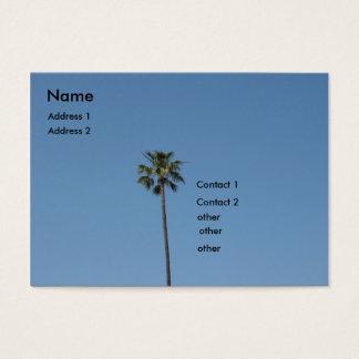 palm tree business card