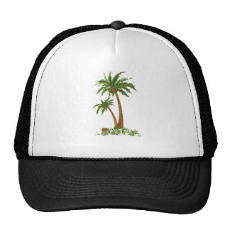 PALM TREE TRUCKER HAT