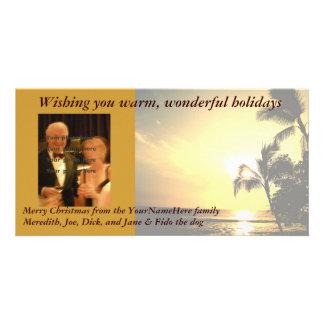 Palm Tree Christmas Photo Personalized Photo Card