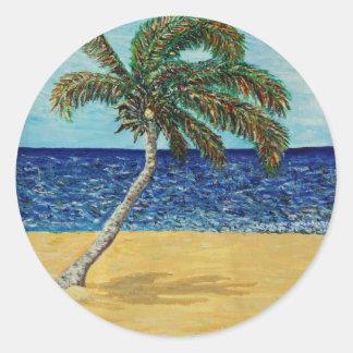 Palm Tree Classic Round Sticker