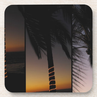 Palm Tree Collage Drink Coaster