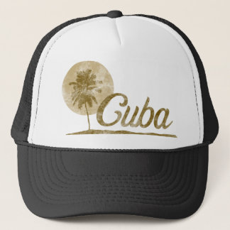 Palm Tree Cuba Trucker Hat