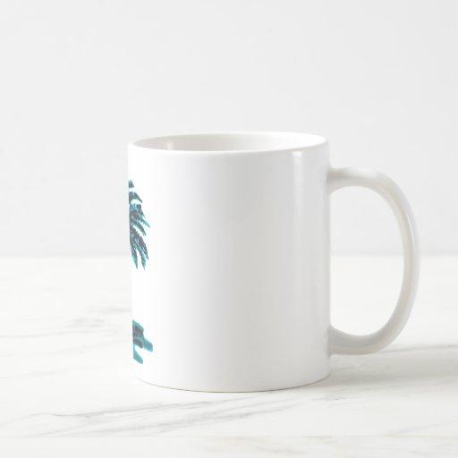 Palm Tree Cyan The MUSEUM Zazzle Gifts Basic White Mug
