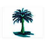 Palm Tree Cyan The MUSEUM Zazzle Gifts Postcard