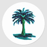 Palm Tree Cyan The MUSEUM Zazzle Gifts Stickers