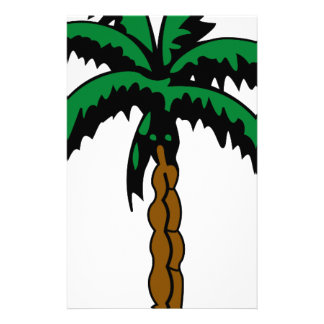 Palm Tree Drawing Stationery