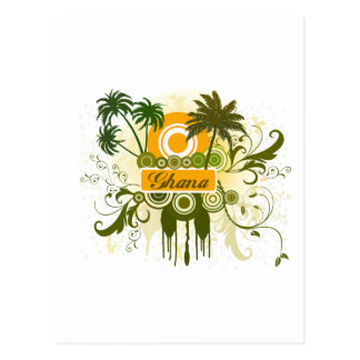 Palm Tree Ghana Postcard