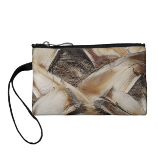 palm tree husk bark change purse