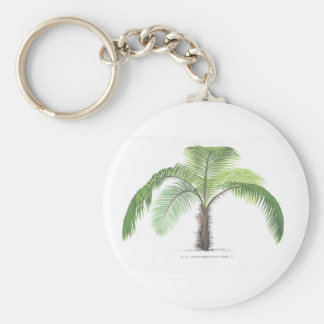 Palm tree illustration III Collection Key Ring