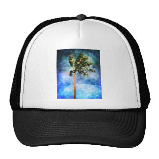 Palm Tree In A Tropical Storm Trucker Hat