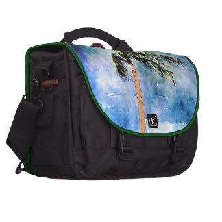 Palm Tree In A Tropical Storm Computer Bag